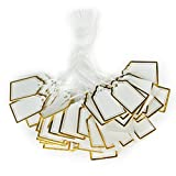 Vorcool - 500 etichette per prezzi rettangolari con cordino per appenderle, ideali per vetrine di gioielli e orologi