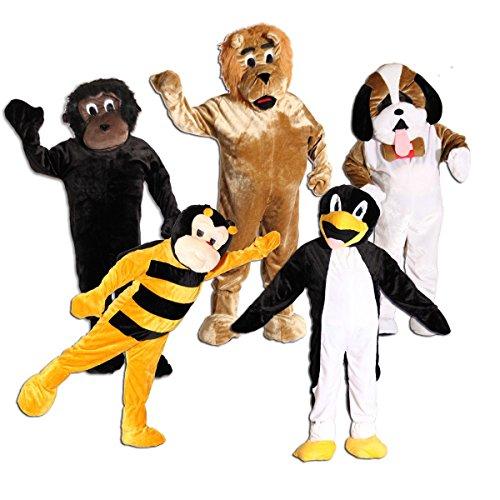 Foxxeo 10851 | Maskottchen Promotion Lauf Kostüm Gorilla Hund Biene Löwe Pinguin Gr. 170-190 cm, Maskottchen:Gorillakostüm