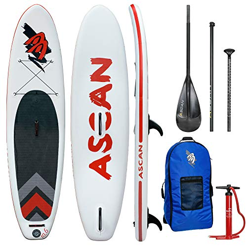 Ascan Wind SUP Board Set 10.6 Windsurf SUP (mit Finne + Reparatur Set)