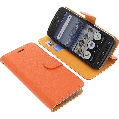 foto-kontor Tasche für Doro 8040 Book Style orange Schutz Hülle Buch