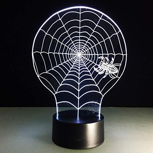 El movimiento del armario de la lámpara ilumina la lámpara de mesa de la recortadora Lámpara de mesa pequeña LED 3D Interfaz USB Luz de control remoto táctil Luz de noche colorida