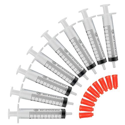 COTOM 100pack 10 ml Spritze, Einmalspritzen/Plastik Spritzen/Dosier spritze/Füllvolumen/Spritze Ohne Nadel/Spritzen-Set Kunststoff Spritze