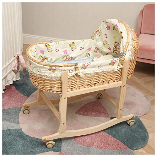 Great Deal! RRH-Cribs Crib Travel,Portable Bamboo Fiber Material Car Go Out Basket (Color : #2, Size...