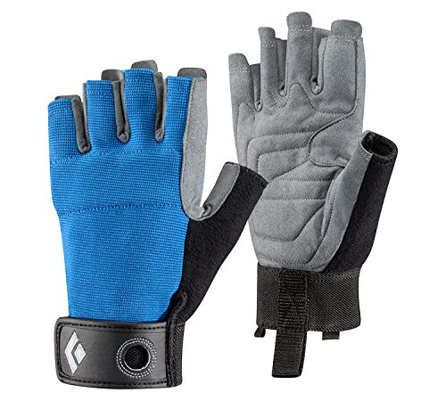 Black Diamond Crag Half Finger Guantes de Escalada, Unisex-Adult, Azul, XL