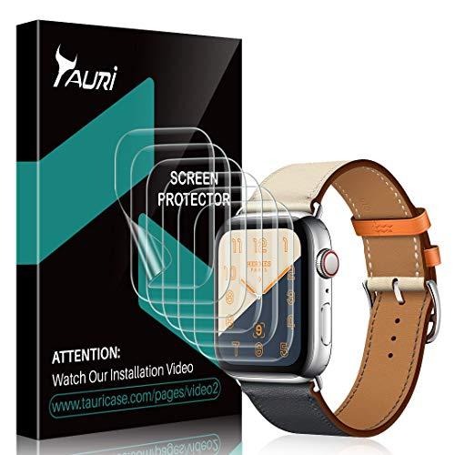 TAURI Pellicola Protettiva per Apple Watch Series 4 40mm [6 Pezzi] Pellicola Protettiva in TPU HD Trasparente [Senza Bolle, Installazione Facile]