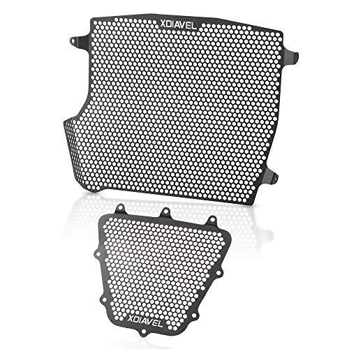 XDiavel Motorrad Kühlerabdeckung Aluminiumlegierung Kühlerschutz Schutzgitter & Öl Kit-Schutz für Ducati XDiavel XDiavel S 2016-2020