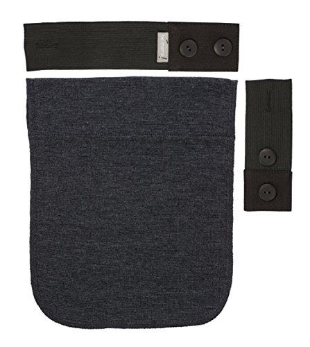 Be! Mama Gummi-Schwangerschaftsgürtel-Verlängerungsset für Hosen, 2 bis 18 cm, Grau