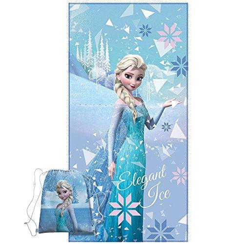 La Reine des Neiges Frozen Winter Drap, Microfibre, Bleu, 70 x 120 cm
