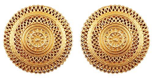 Touchstone Indian Bollywood künstlerische Fransen Motiv Braut Designer Schmuck Ohrringe für Damen Gold