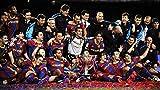 WOAIC Barcelona Messi Iniesta David Villa Puyol Soccer