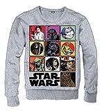 for-collectors-only Star Wars - Sudadera con Capucha y Texto Icon Darth Vader Stormtrooper Yoda Luke Chewbacca, Talla L