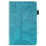 Jajacase Funda Folio iPad Mini 1 2 3 4 5 -Slim Carcasa Cuero PU Silicona y Multiángulo y Soporte Case Cover Protector-Azul Claro
