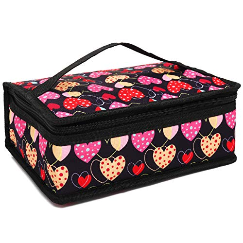 Small Lunch box Insulated Soft Bag Mini Cooler Back to School Thermal Meal Tote Kit for Kids, Girls, Boys,Women,Men by FlowFly (Heart))