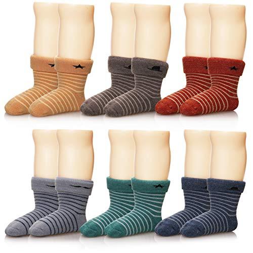 Eocom 6 Pairs Children's Winter Thick Warm Wool Socks Soft Kids Socks...