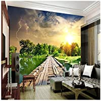 Wkxzz 壁の背景装飾画 カスタム壁画写真壁紙ロール3D自然風景リビングルーム寝室テレビソファ背景壁紙-120X100Cm