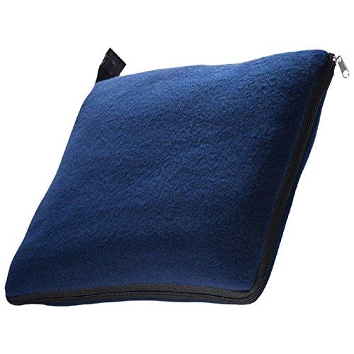 XL Fleecedecke und Kissen in einem, dunkelblau, ca. 180x120 cm