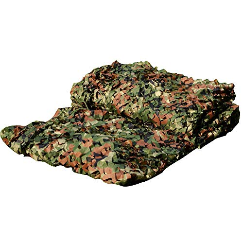LOOGU Custom Woodland Camo Netting Camping Military Hunting Camouflage Net (150D Polyester, 20x20ft)