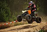 Gifts Delight Laminated 36x24 inches Poster: ATV Quad Jump Cross Enduro Motocross Motocross Ride Motorcycle Motorsport Motorcycle Sport All-Terrain Vehicle Race