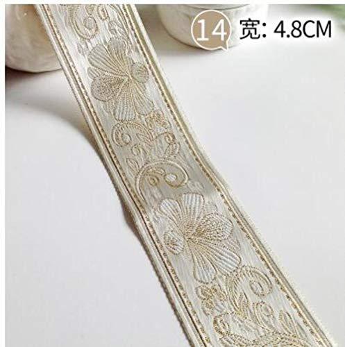 1M Vintage etnische geborduurd lint Boho Lace Trim geborduurde stof voor DIY kleding tas gordijn naaien accessoires, GG, 1M