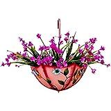 Jardinería Maceta Creativa de Pared Plantas en macetas en la Puerta Adornos de Maceta de Hierro Forjado Contenedor de Flores Colgante Adornos de decoración de jardín (Color : Pink, Size : 30 * 38cm)