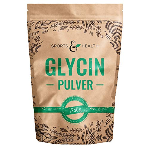 Glycin Pulver - 1250g Pulver – 1500mg Glycin Pulver Pro Tagesdosierung - Glycine Mit Extra Messlöffel - Eigene Produktion