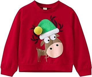 Enfants Blouse de No/ël 3T Autumnwind Toddler b/éb/é /à manches longues impression de no/ël Deer Tops Sweatshirt pour 1-4 Ans