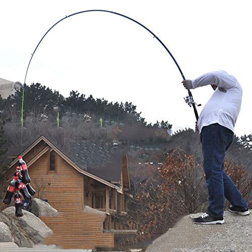 L-MEIQUN, caña de Pescar telescópica de Fibra de Vidrio de Alta Resistencia para Pesca de Invierno, caña de Pescar de Hielo, caña de Pescar, Carpa, látigo de Pesca, Herramientas, 3.6 m