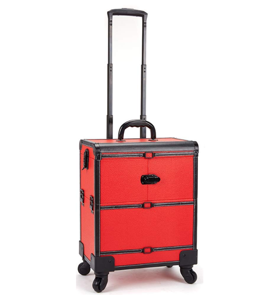 Super beauty product Outlet sale feature restock quality top Rolling Makeup Artist Train Case Trolley Lockable Organ Cosmetic