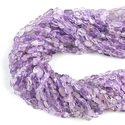 HUKGD 5 * 8 mm Forma de Huellas de Piedra ovaladas de Piedra Natural ametrina Suelta Perlas para joyería Haciendo Bricolaje Collar de Pulsera 5mm