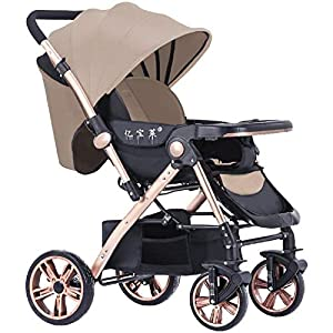 WYFFF Stroller, Compact And Lightweight Reclining Baby To Toddler Premium Pushchair Opening & Folding Easily with Sleep Position, Height Breathableadjustable Handle, Foldaway Trolley,C   6