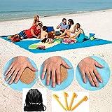 Voniry Sand Free Beach Mat Blanket-Waterproof Windproof Mat Blanket for Picnic Camping Outdoor