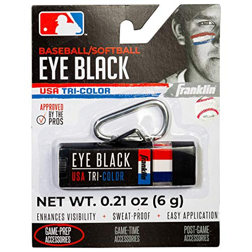 Franklin Sports MLB Premium Eye Black - Red. White, Blue