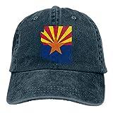 Snapback Cap Arizona Map Cowboy Gorra De Camionero para Deportes Al Aire Libre Vintage Regalo Clásico Transpirable Impresión De Mujer Protección Solar Sombreros De Béisbol Ajustabl