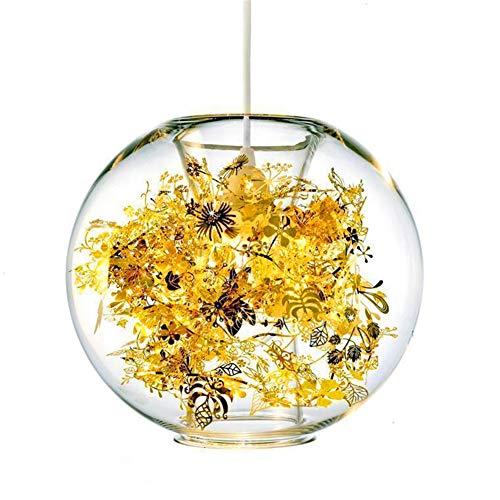 Lámpara de techo esférica con pantalla de cristal, de bajo consumo y resistente a altas temperaturas, adecuada para dormitorios y bares.