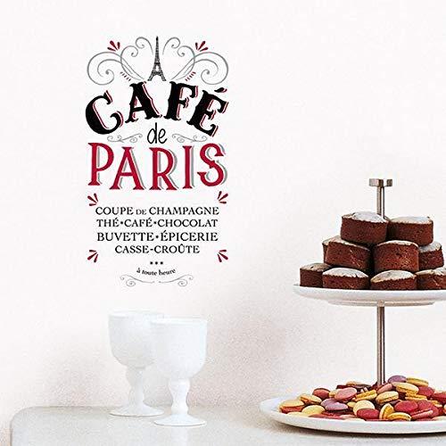 Draeger Paris - Sticker Transfert Café De Paris en Polyester - Multicolore