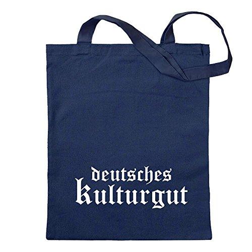 Kiwistar Deutsches Kulturgut Altdeutsch Tragetasche Baumwolltasche Stoffbeutel Umhängetasche Langer Henkel