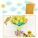 Sethexy 3D Carta di buon compleanno Apparire Carte del Ringraziamento Carte di San Valentino Fiore Schede e buste vuote Biglietti d'auguri per tutte le occasioni per lui Sua Mamma Papà Famiglia (C)