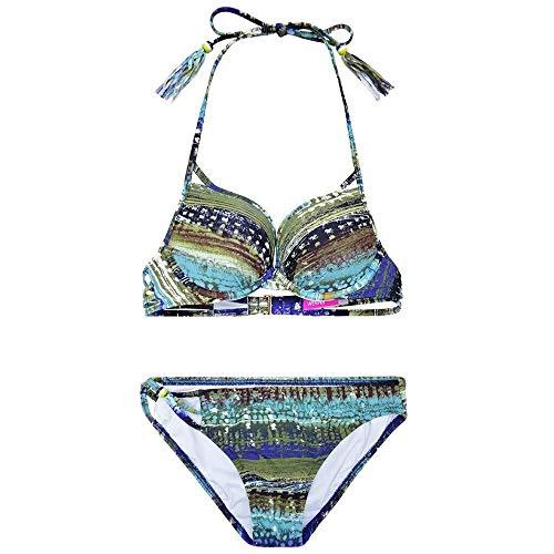 Mujeres Halter Bikini Triangle Sets Trajes baño dos