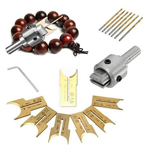 ZRNG 24pcs bit bit Rosary Cut Aleación Set Alloy Ball DIY Madera Rosario Bead Taladro eléctrico Moldeado Herramienta de carpintería 6-25mm