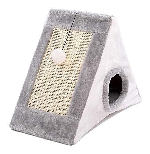 hooks Dog beds small medium Pet Nest House Cat House Tent Villa Cat Nest Winter Warm Foldable Convenient Storage Pet Supplies (Color : GRAY, Size : 44 * 26 * 36CM)