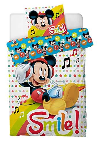 Aymax S.P.R.L. Disney Mickey Smile Bettwäsche-Set 140x200 cm