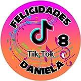 OBLEA de TIK TOK Personalizada con Nombre y Edad para Pastel o Tarta, Especial para cumpleaños,...