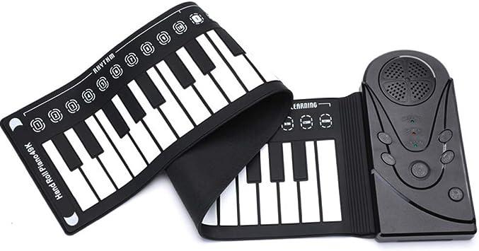 WANGLXST Piano enrollable portátil de 88 teclas, piano ...