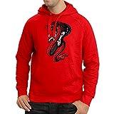 lepni.me Sweatshirt à Capuche Manches Longues Serpent électrique Cobra, Amateur de Rock and Roll (Medium Rouge Multicolore)