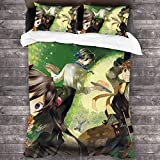 Wall Aion Anime Pandora Hearts Personajes Póster Funda nórdica con Cierre de Cremallera, 3 Piezas de Microfibra Suave Lavable a máquina, colchas de Felpa para la colección de hoteles C11707