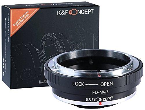 K&F Concept FD-M4/3 Objektivadapter kompatibel mit Panasonic Olympus Micro Four Thirds m4/3 MFT Bajonett Adapterring Canon FD