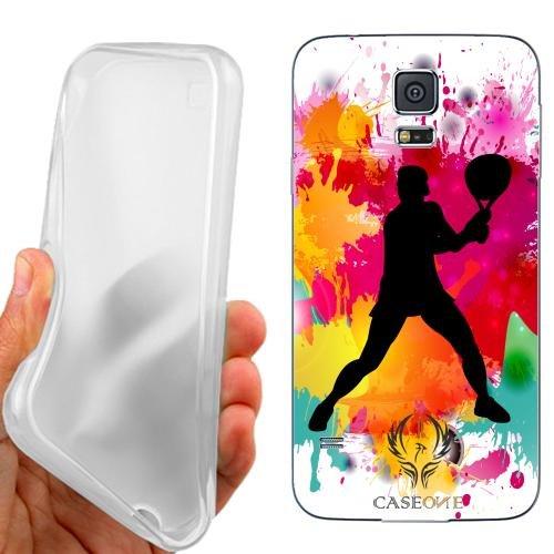 Custodia Cover Case Tennis Maschile per Samsung Galaxy S5 Plus G901F