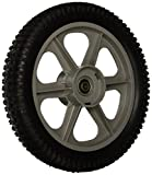 "MaxPower 335112 Plastic Spoked Wheel, 12' X 2"",Black"