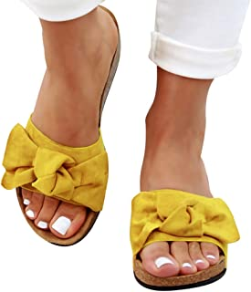 Femmes Cuir Mule Glisser Sur Sandales Slipper Flat Summer 2019 chaussures chic plage