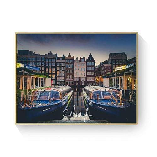 Wanddekoration Amsterdam- Fluss